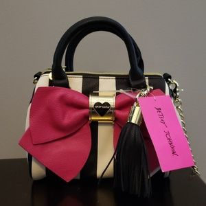 Betsey Johnson Mini Crossbody Stripe Purse